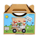 Etikett für Eier Tragebox - Motiv Mobilstall Cartoon Svenner