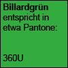 Billardgrün Pantone 360U