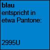 Blau Pantone 2995U