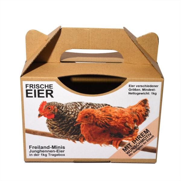 Etiketten für 1kg Eier-Tragebox