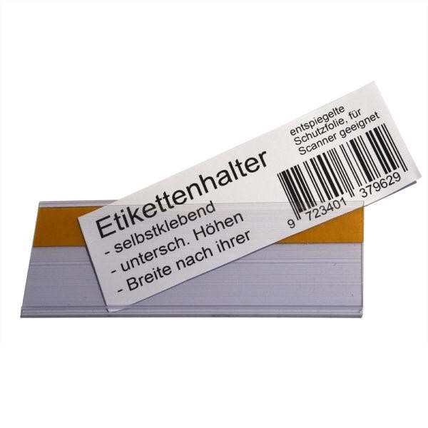 Etikettenhalter mit eingelegtem Papierschild