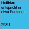 Hellblau Pantone 298U