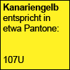Kanariengelb Pantone 107U