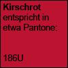 Kirschrot Pantone 186U