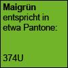 Maigrün Pantone 374U