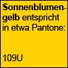 Sonnenblumengelb Pantone 109U