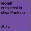 Violett Pantone 267U
