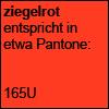 Ziegelrot Pantone 165U