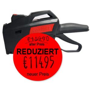 """Auszeichner für Promotionsetiketten """"alter Preis, REDUZIERT, neuer Preis"""""""