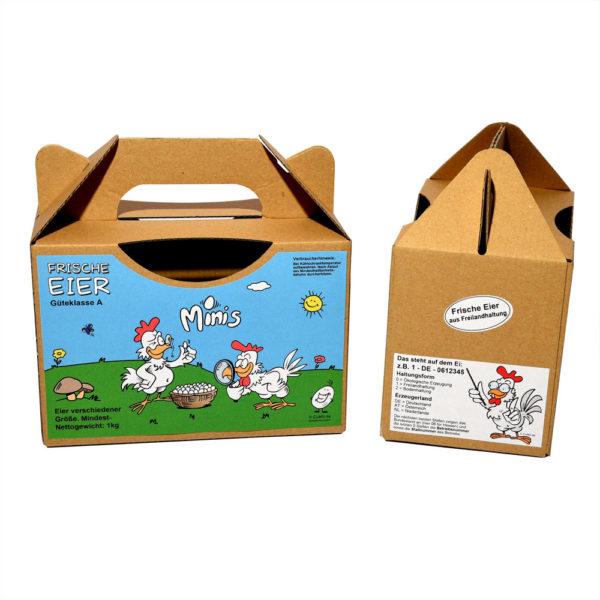 Etiketten für Eierbox