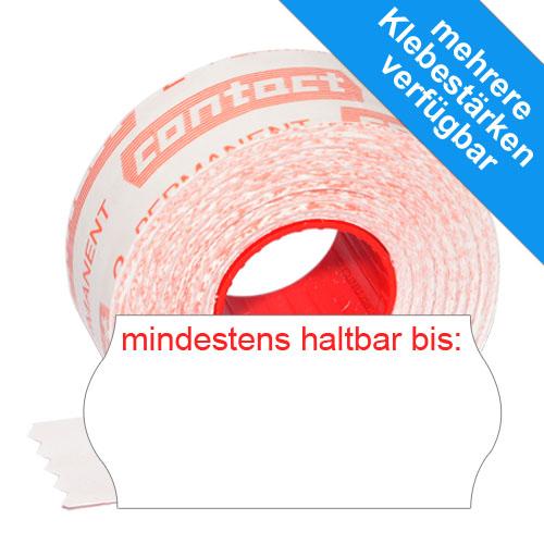 1500 original contact MHD Etiketten 26x12mm mindestens haltbar bis