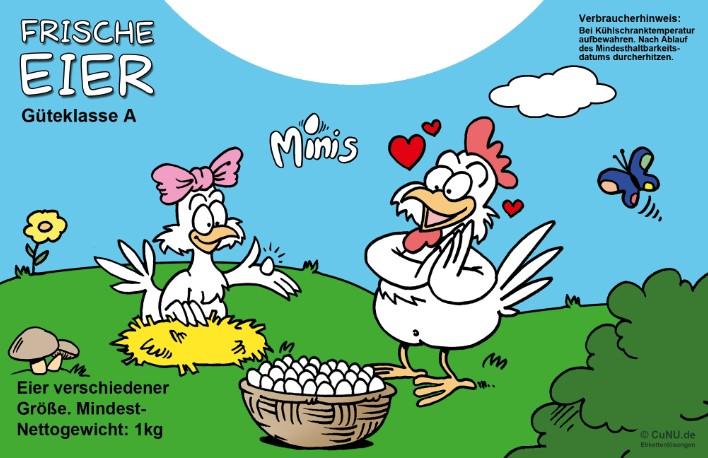 motiv minis etiketten für eier tragebox