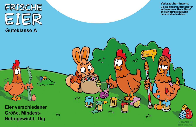 Cartoon-Etiketten Motiv Ostern