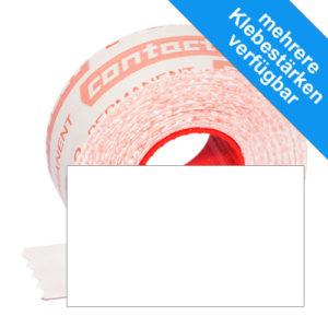 1000 rechteckige Etiketten im Format 32x19mm, weiß, original contact