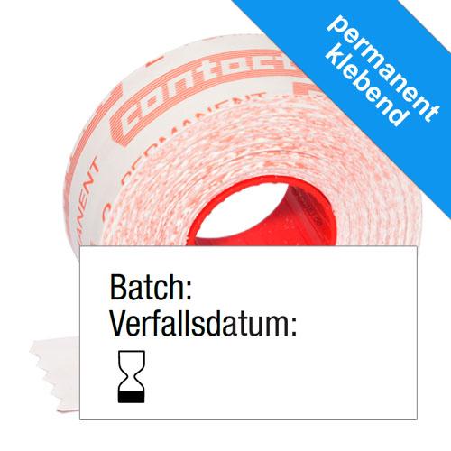 Batch Verfallsdatum Etiketten