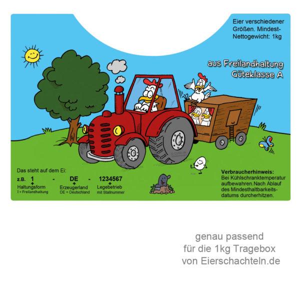 Trageboxetiketten für das Modell von Eierschachteln.de
