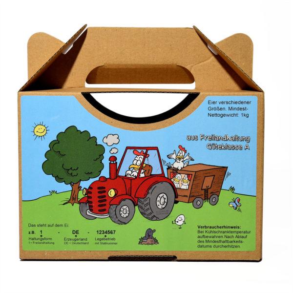 Motiv Traktor Etiketten für die Eier-Tragebox von Eierschachteln.de