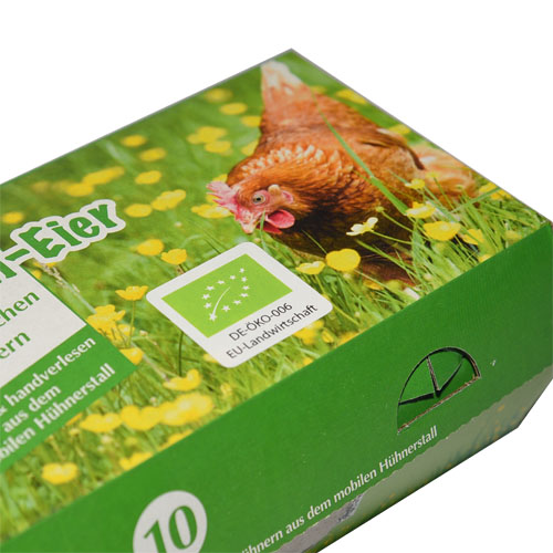 Eggbox mit EU-Biosiegel