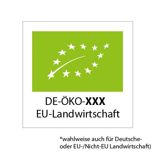 EU-BIO-Logo Etiketten, Deutsche Landwirtschaft, EU-Landwirtschaft, EU-/Nicht-EU-Landwirtschaft